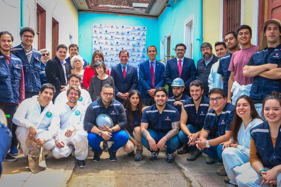 Alcalde Alessandri inauguró las remodelaciones del cité Toesca 2495
