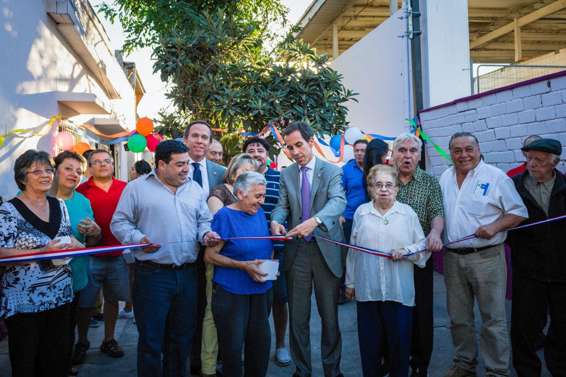 Alcalde inaugura los arreglos del Pasaje San Juan