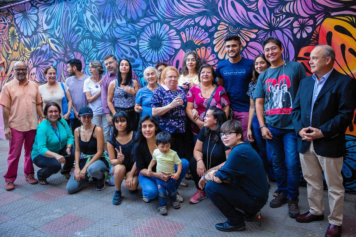 Murales artísticos en el cité Esperanza