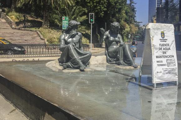 Restauración de Neptuno y Anfitrite del Barrio Bellas Artes