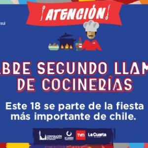 SEGUNDO LLAMADO – Cocinerías Fonda Santiago 2019